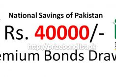 Rs. 40000 Premium Prize Bond Draw #11 10 December 2019 Quetta