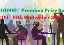 Rs.40000/- Premium Prize Bond Draw #06 list Result 10th September 2018 Quetta