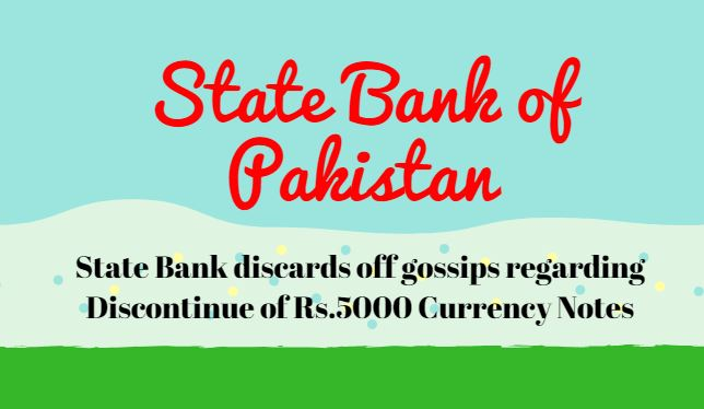 State Bank discards off gossips regarding Discontinue of Rs.5000 Currency Notes